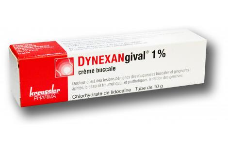 Dynexangival 1% crème buccale - 1
